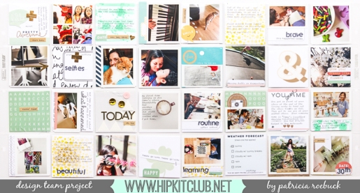 March Project Life @hipkitclub @paroe #projectlife #pocketpages #scrapbooking #HipKitMarch2015