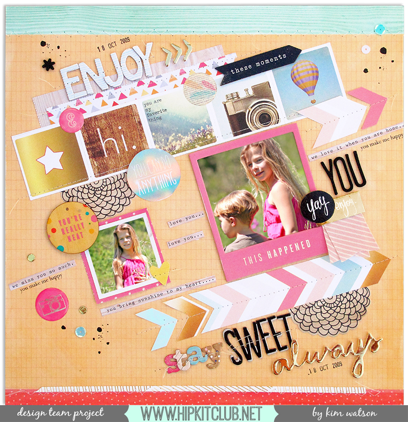 @HipKitClub @KimWatson #scrapbooking kit #April2015 #12x12 #layout  @americancrafts @websterspages