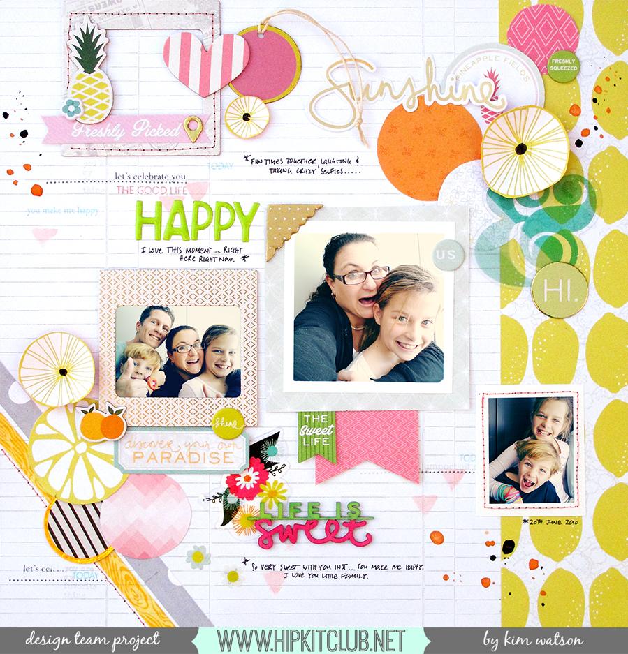 @HipKitClub @KimWatson @pinkpaislee #ppcitrusbliss #scrapbooking #12x12 #layout  @shopEvalicious