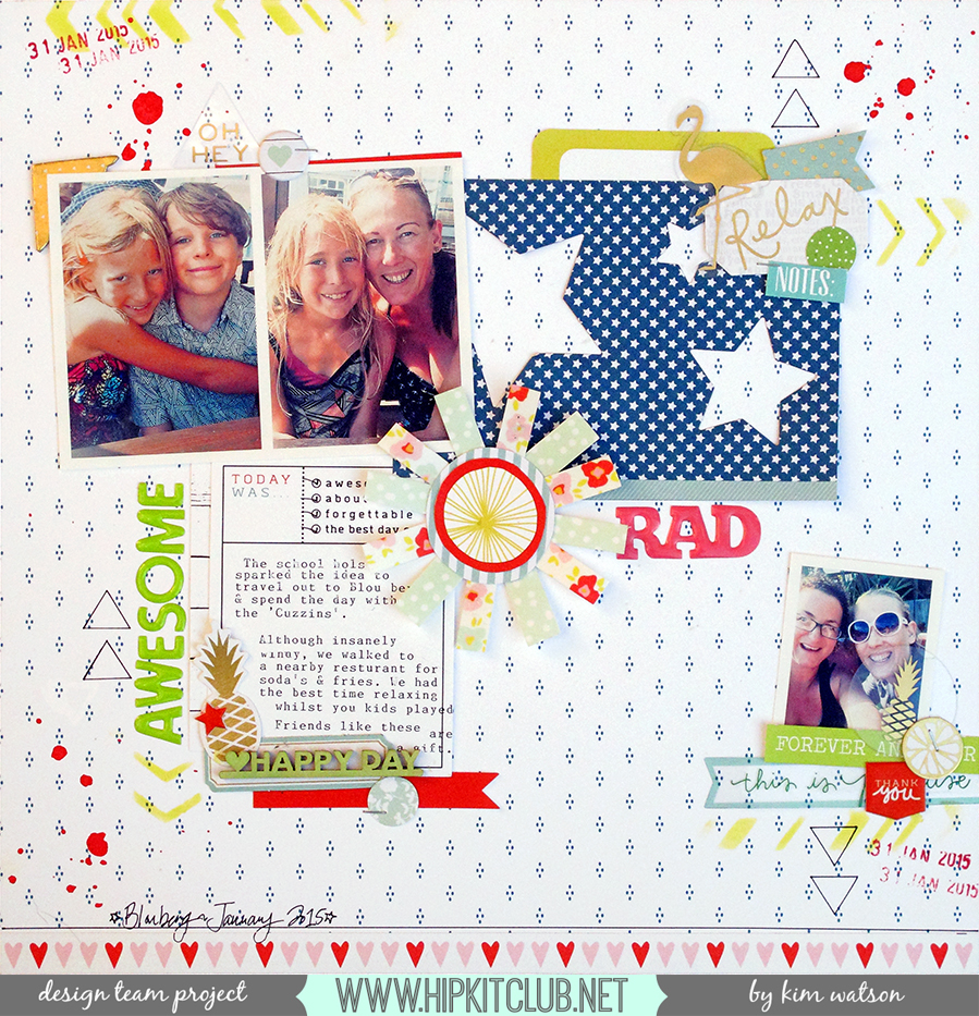 @HipKitClub @KimWatson @chickaniddy @americancrafts @rangerink @pinkpaislee @xyroninc  #scrapbooking #layout #12x12