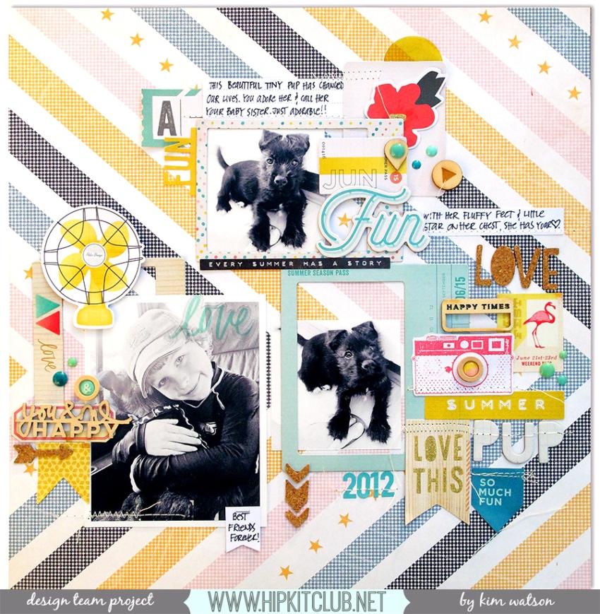 @HipKitClub @KimWatson @crate_paper @pinkpaislee @americancrafts #scrapbookingkit #layout #papercrafts #12x12