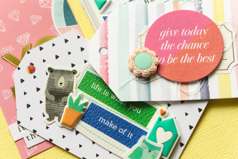 Adorable gift tags using Pinkfresh Studio Embellishments @abstractinspiration #abstractinspiration #ziniaamoiridou #hipkitclub #pinkfreshstudio #gifttags